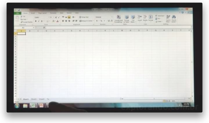 Excel no Windows 8