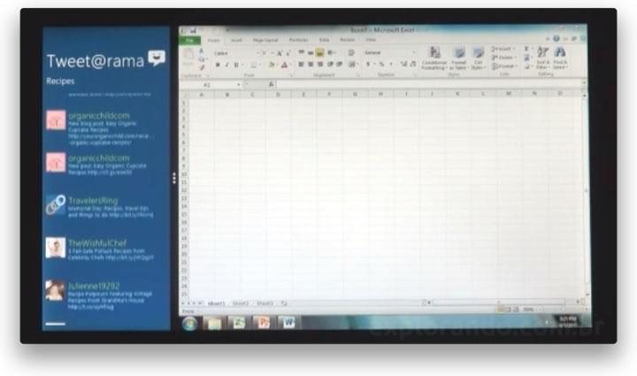 Windows 8: app do Windows 8 lado a lado com apps tradicionais