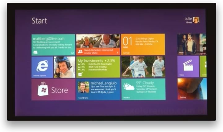 Screenshot do Windows 8
