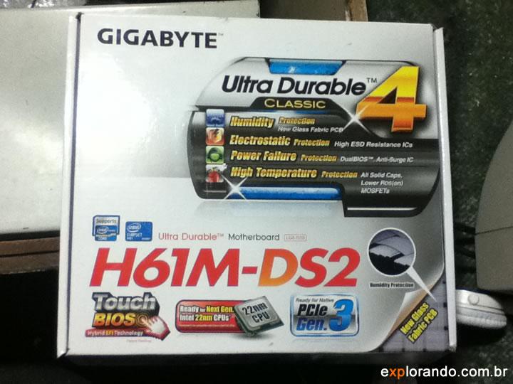 caixa gigabyte h61m-ds2