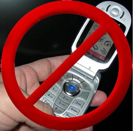 celular proibido