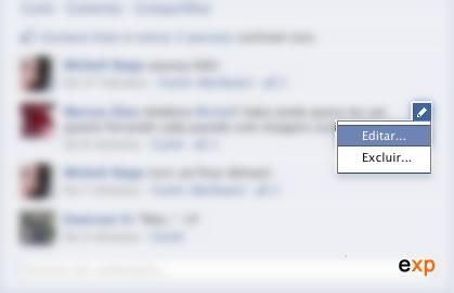 editar comentários facebook