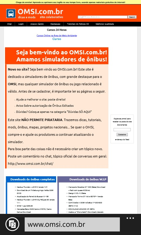 site ruim no windows phone