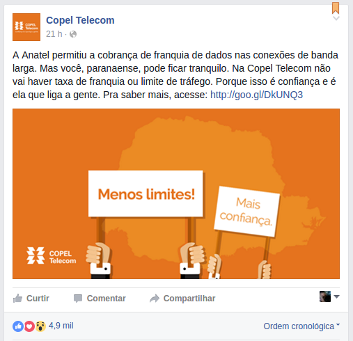 copel internet ilimitada