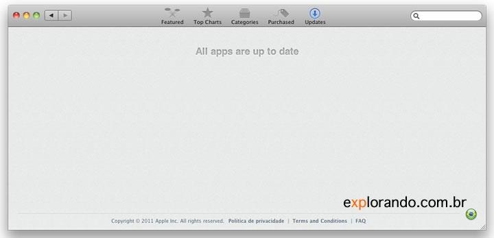 Mac App Store - todas as apps atualizadas