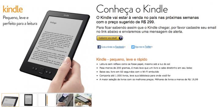 kindle 300 reais