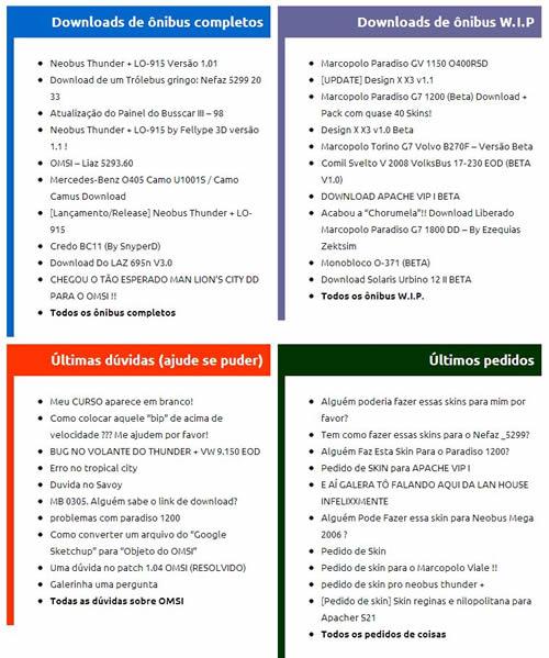 links categorias