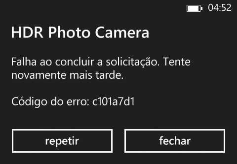 erro c101a7d1 windows phone