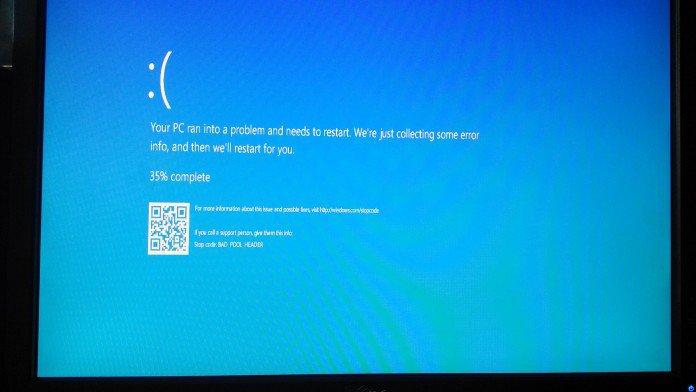tela azul windows 10 qr code
